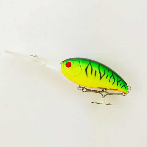 Green tiger strip storm lure